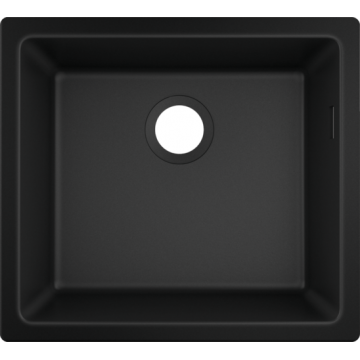 43431170 - Under-mount sink 450, SilicaTec, Graphite Black